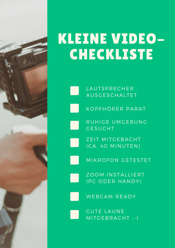 Video-Checkliste